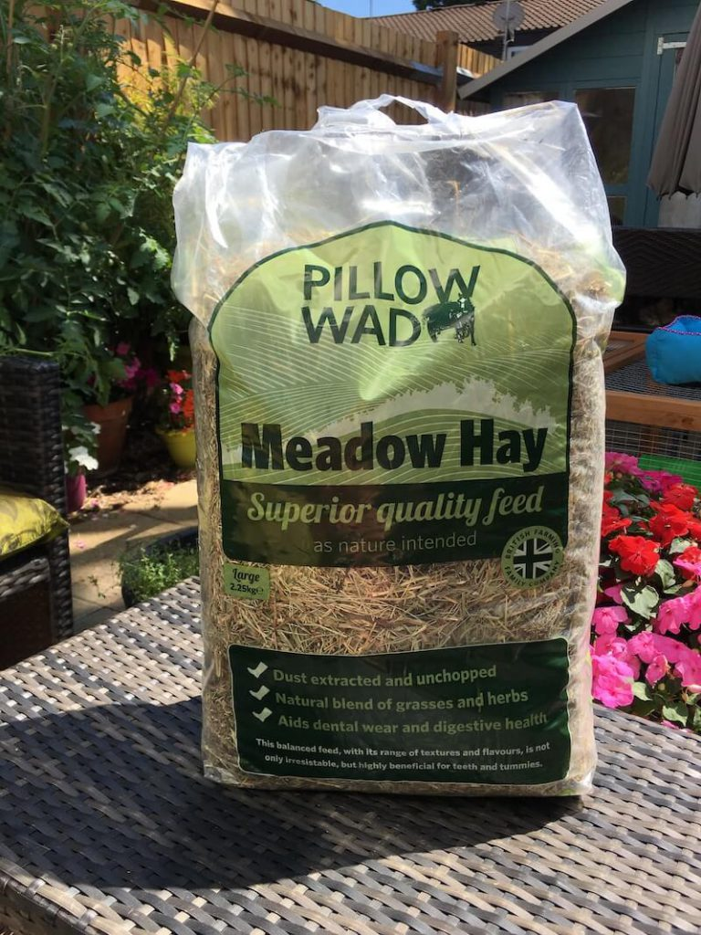 bag of meadow hay for guinea pigs